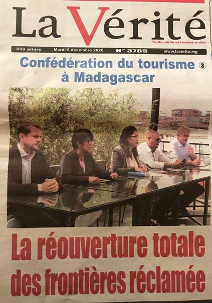 Confédération du tourisme à Madagascar – La réouverture totale des frontières réclamée